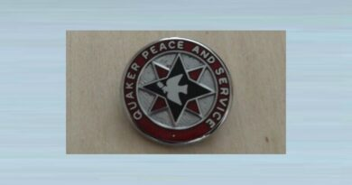 Vintage Quaker Peace And Service Pin Badge